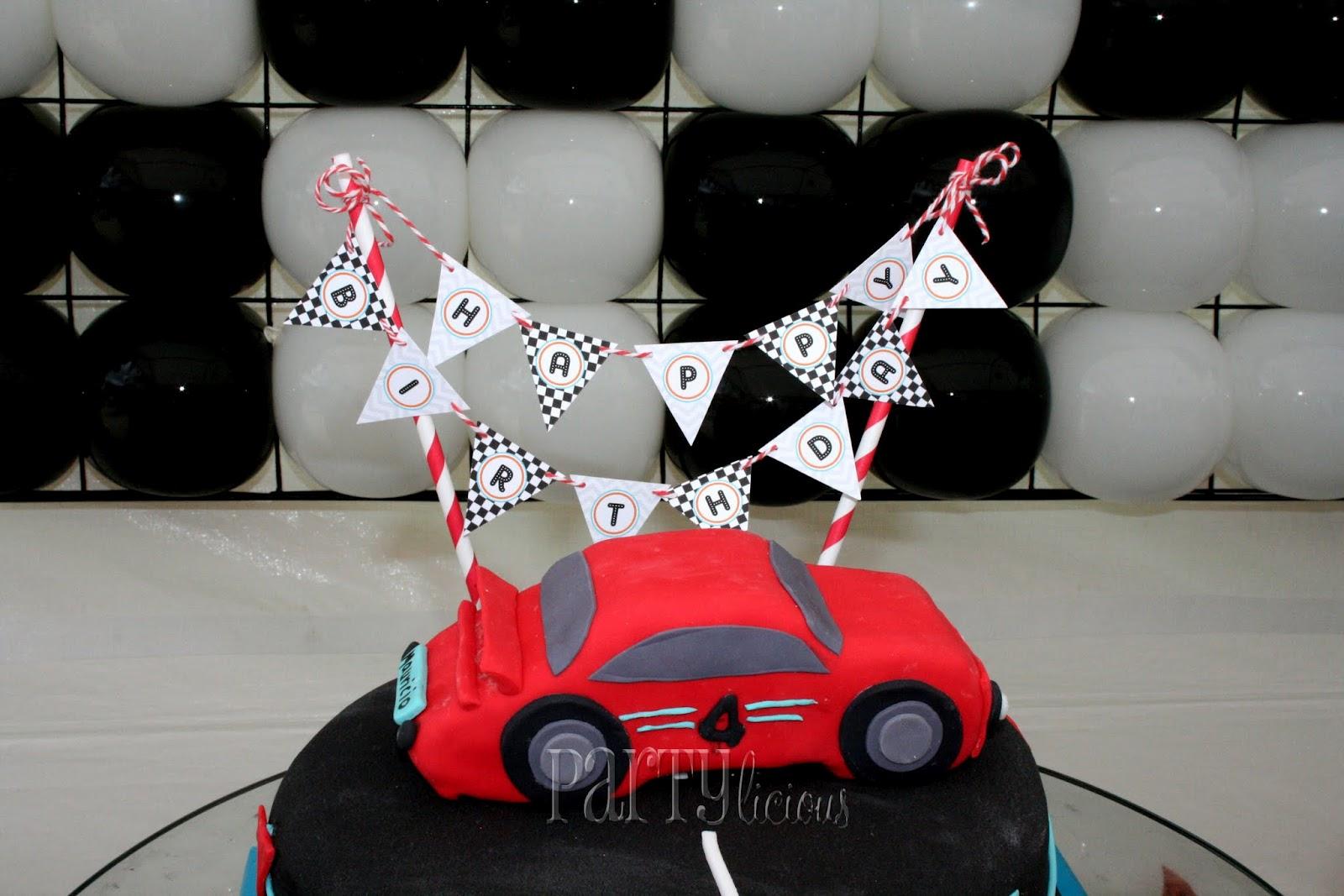Partylicious Events PR Mauricios Race Car 4th Birthday