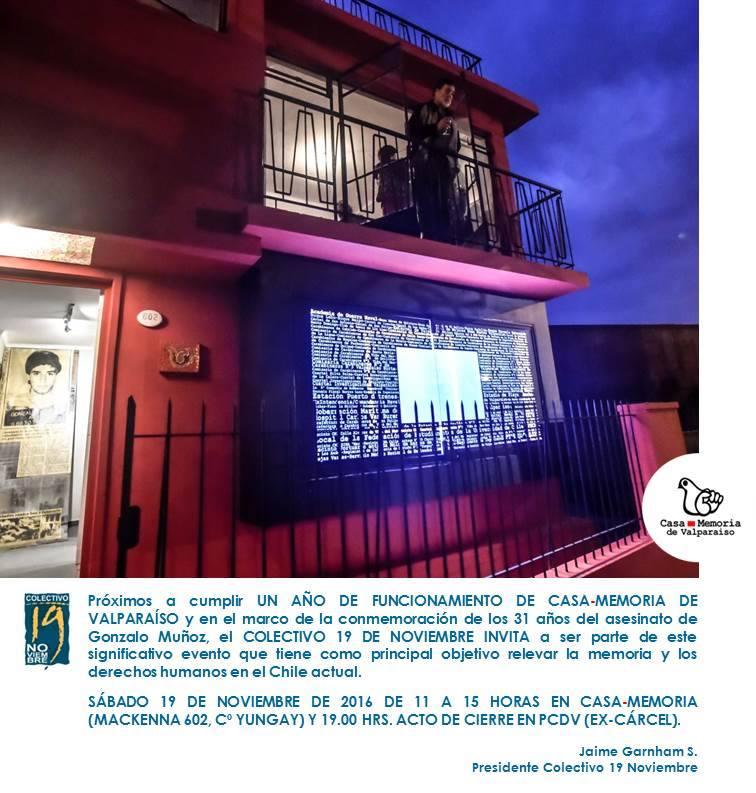 Este sàbado 19 de noviembre, en Valparaìso.