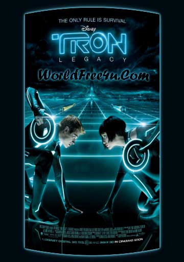 Poster Of TRON Legacy (2010) Full Movie Hindi Dubbed Free Download Watch Online At worldfree4u.com