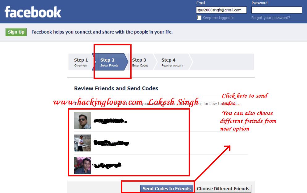 get authorization code for hack facebook password