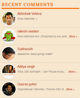 Recent Comments Widget with Avatar for Blogger