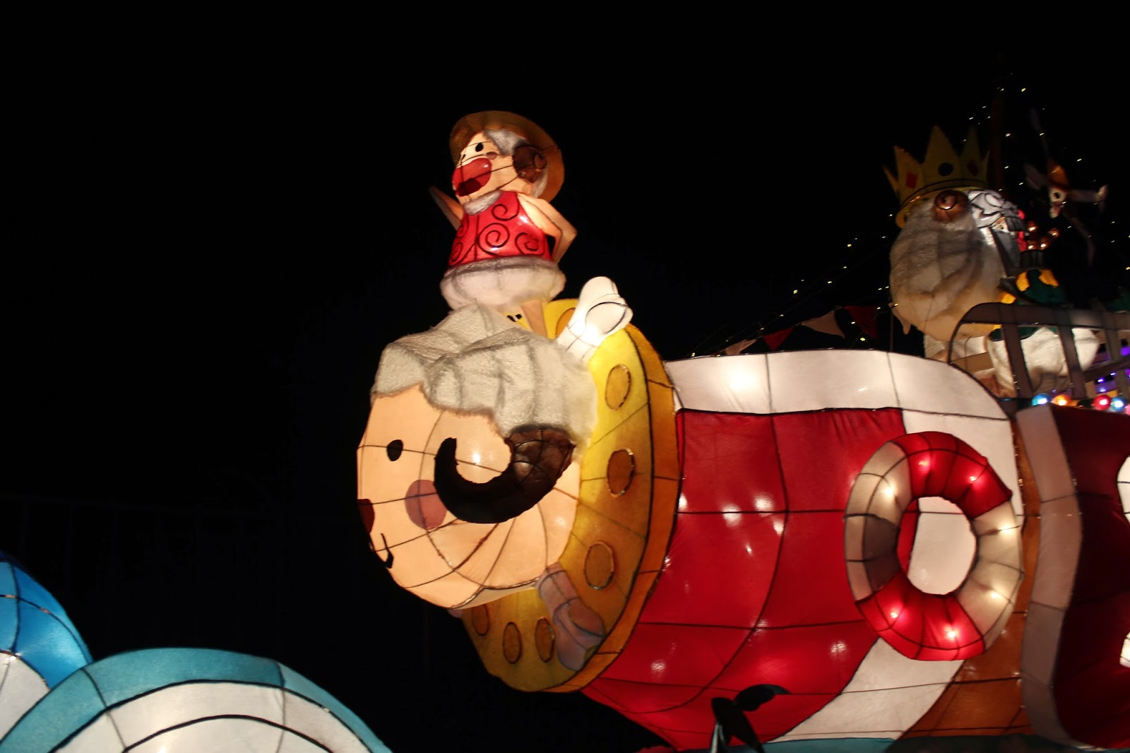 taiwan taipei lantern festival 2015 one piece ruffy