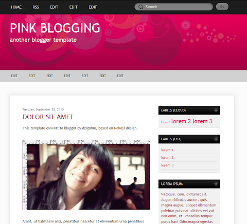 Pink Blogging Blogger Theme