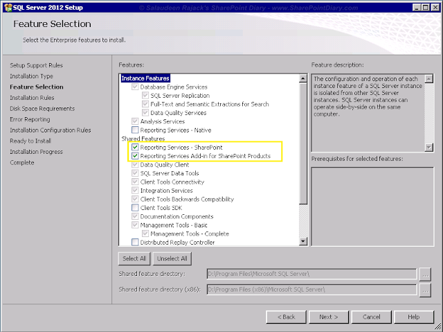 SSRS Components for SP 2013