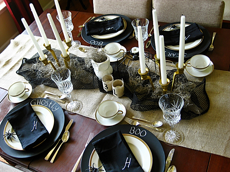 Delicieux Elegant Halloween Table Setting
