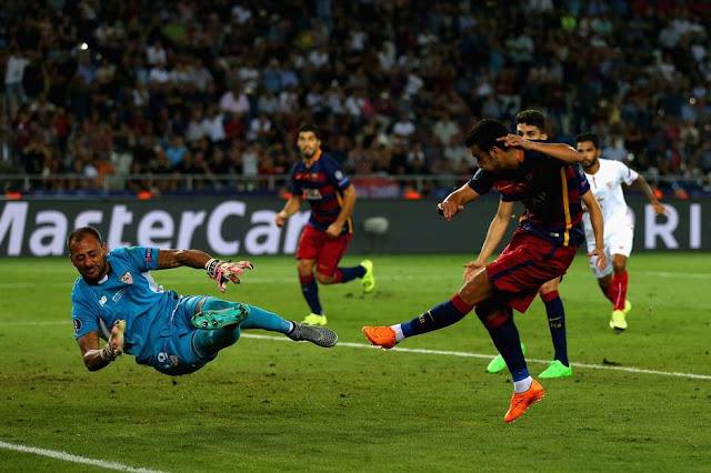 Gol de Pedro, na prorrogação, deu o título ao Barcelona (Foto: Chris Brunskill/Getty Images)