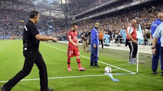 Marseille-Lyon game, Valbuena, Soccer, futbol
