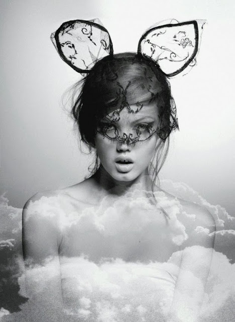 Maison Michel : Bunny Mask  By Karl Lagerfeld 2013