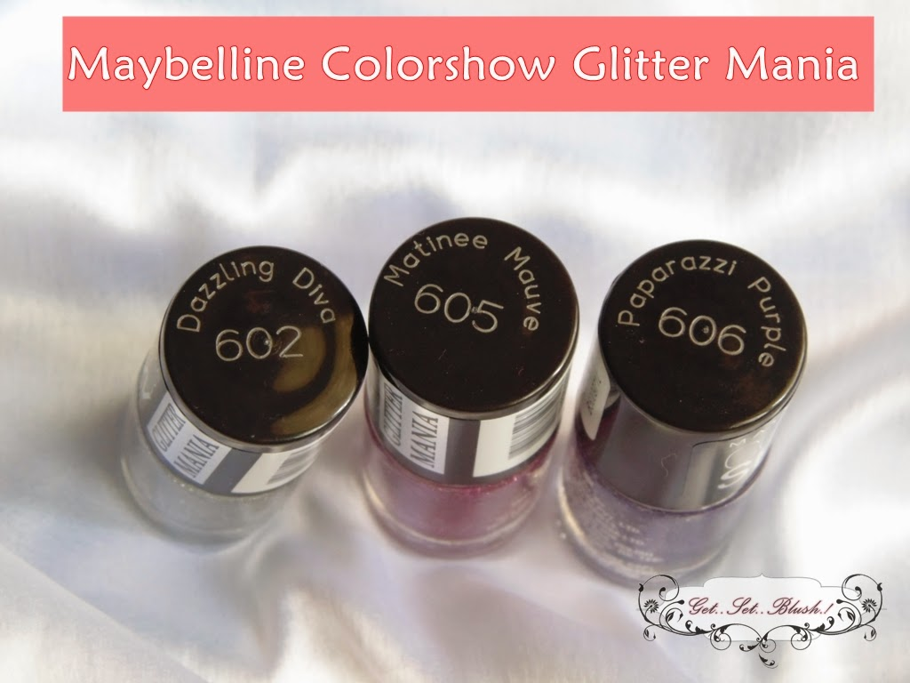 Maybelline Color Show Glitter Mania Nail Colors Swatches