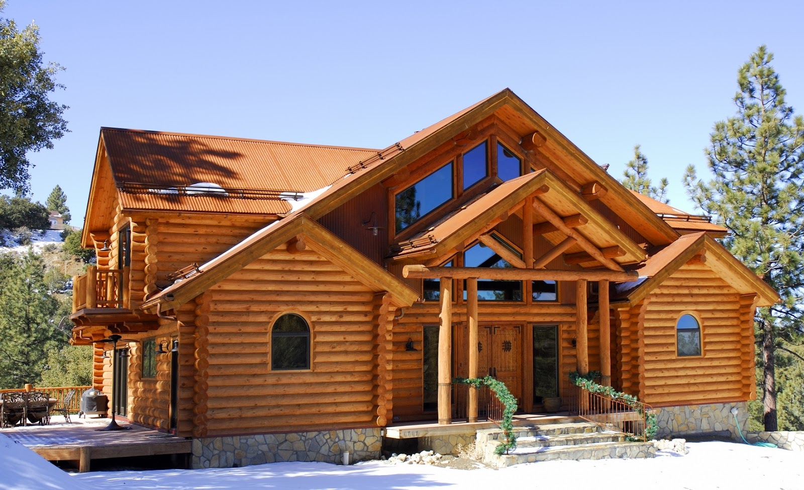 Home garden les fustes des maisons en rondins de bois - Chalet en rondin de bois ...