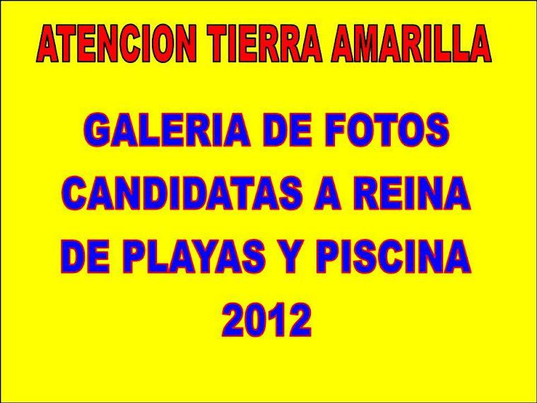 GALERIA DE FOTOS CANDIDATAS A REINA 2012
