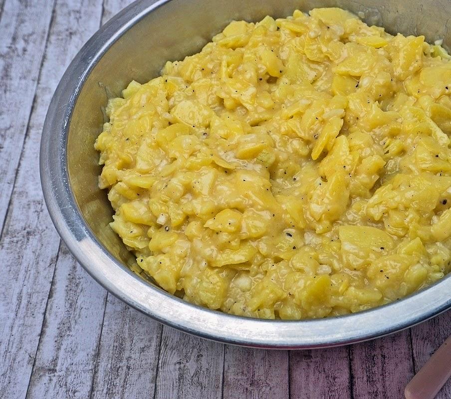 Stuttgartcooking maultaschen ger stet mit ei und kartoffelsalat - L ei weich kochen ...