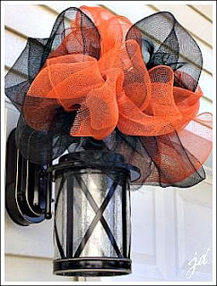 Outdoor Mesh Ribbon Bow by Decorating Ideas Made Easy