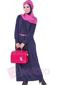 Zenitha Gamis Zn113 - Dongker (Toko Jilbab dan Busana Muslimah Terbaru)