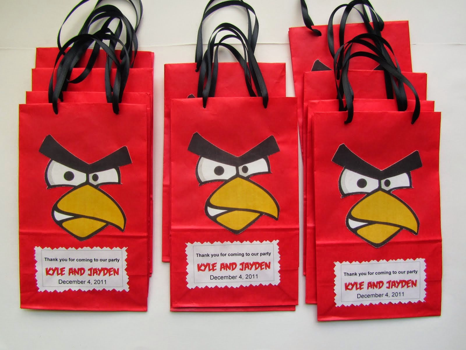 Jingvitations: Angry Birds Invitations, Banner, Goody bags / Party ...