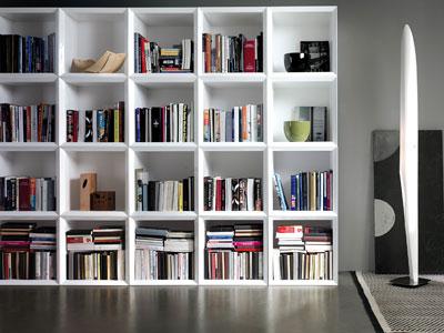 Sciccosi dettagli libri librerie for Librerie bianche