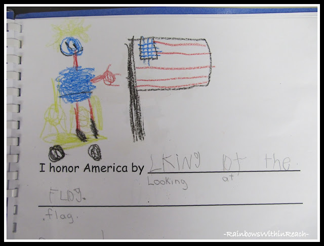 photo of: President's Day Class Book in Kindergarten via RainbowsWithinReach