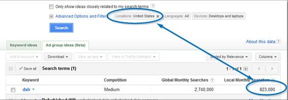 cara riset keyword 4 - menentukan lokasi 2