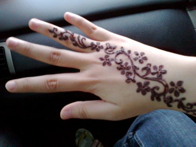 Corak Inai Di Tangan Simple Tattoos