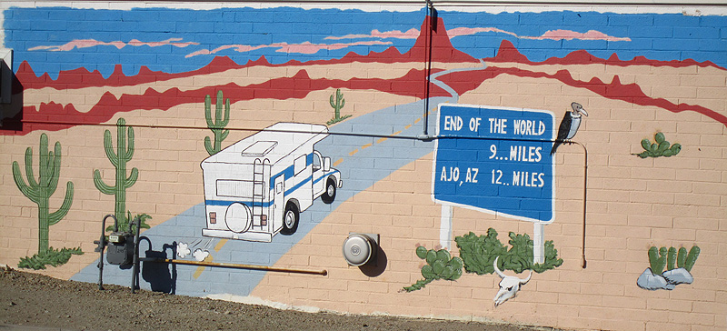 Totally trailer the land of saguaros for Cleveland gas station mural