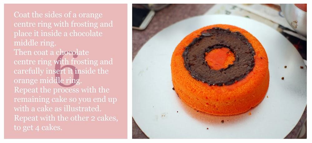 Chocolate And Orange Checkerboard Cake