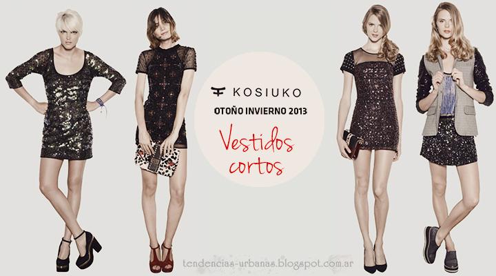 Vestidos cortos  Kosiuko Coleccion invierno 2013