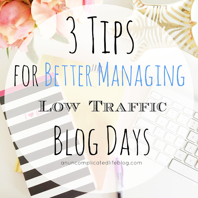 Low blog or website traffic periods and what to do about it!