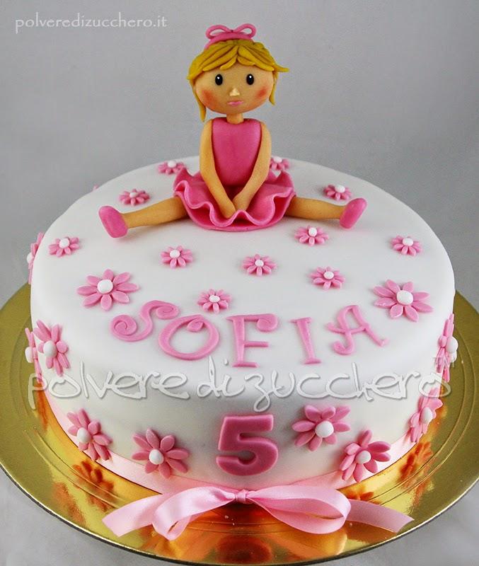 torta decorata per una bimba che sogna di fare la ballerina