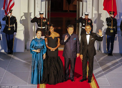 Michelle Obama stuns in designer Vera Wang gown as Obama's host Chinese leader,china,usa,china leader,