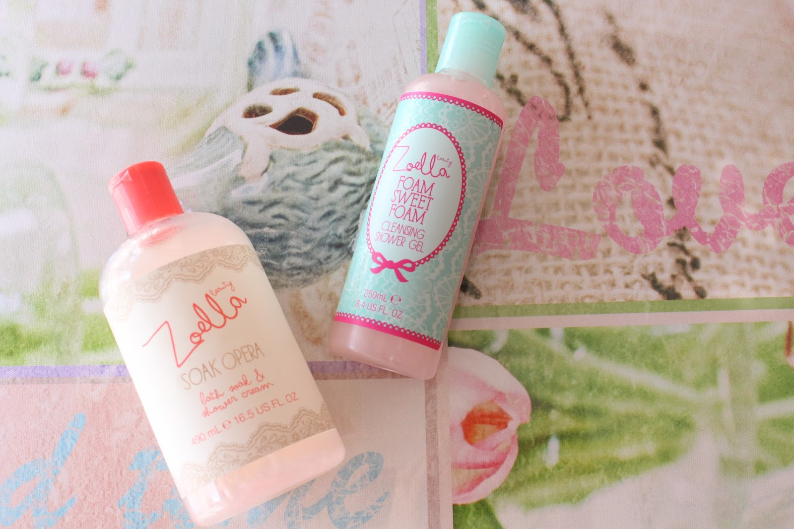 zoella beauty shower gel soak opera foam sweet foam