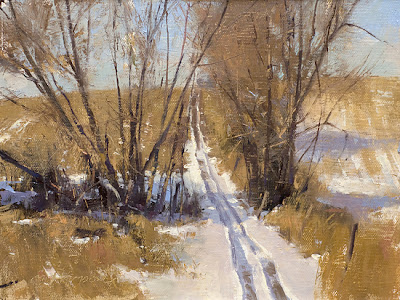 3/10/12 'ATV Trail' - 6″x 8″ – Oil