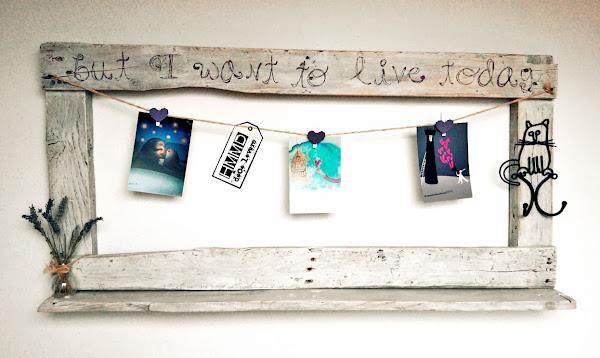 Marco de madera vintage vintage wood frame - Decorar marcos de madera ...