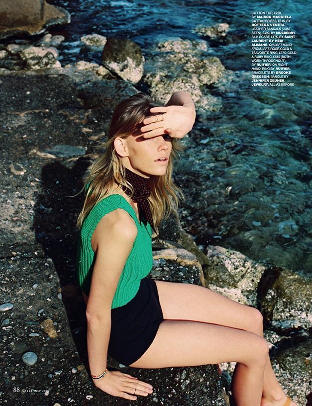 Charlotte Nolting in Bikini for Tatler UK July 2015 Rhapsody in Blue