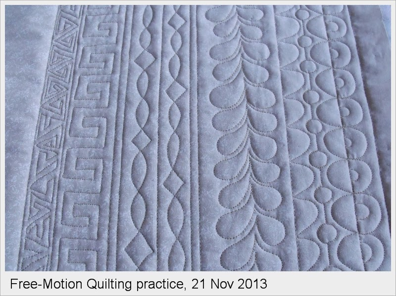 Pine Point designs: Free-Motion quilting practice