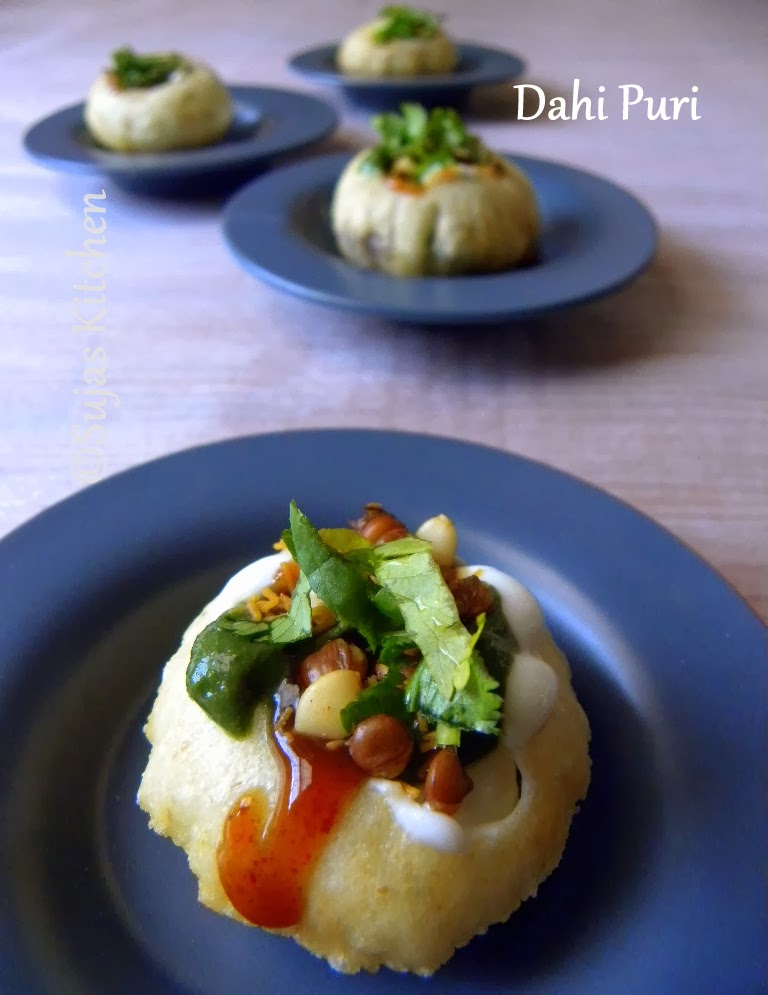 Quick & Easy Dahi Puri with ingredients on hand.