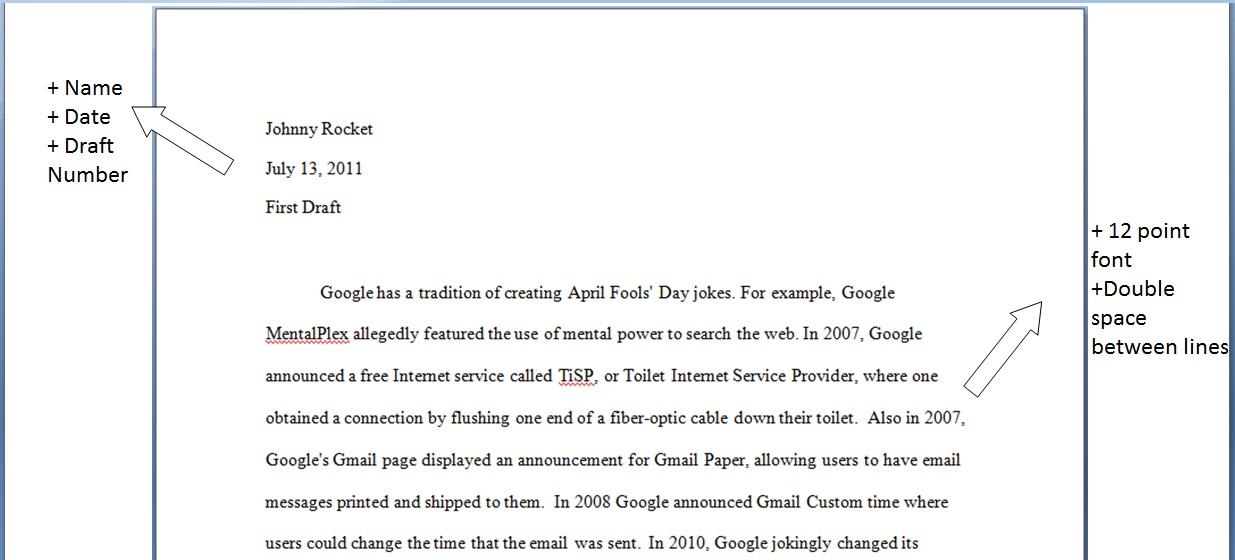 application essay format