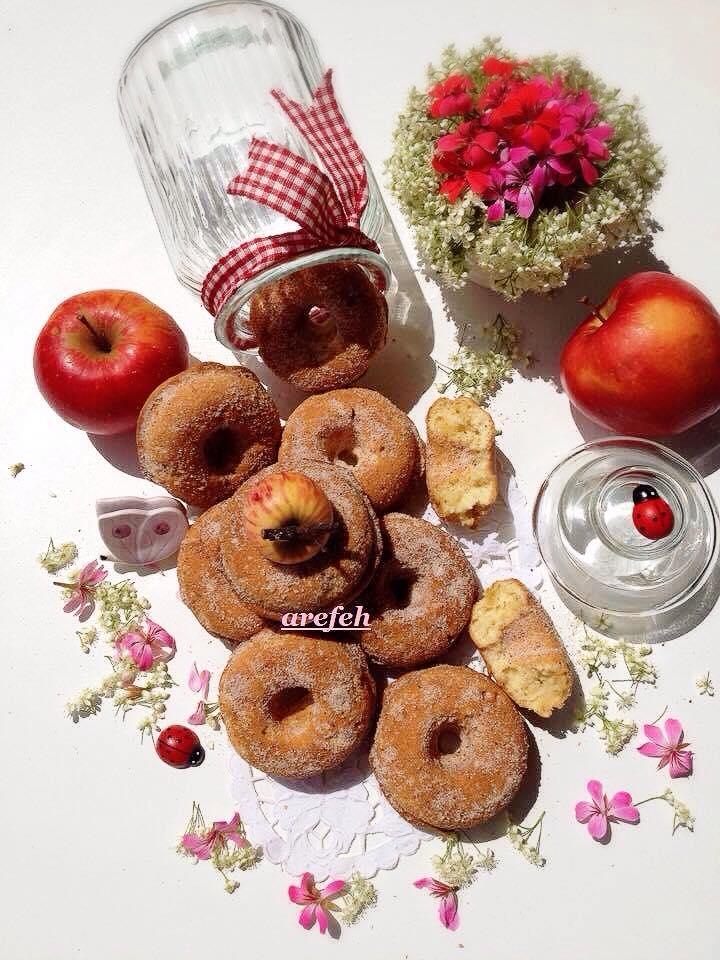 مواد لازم دکوپاژ آشپزون : دونات سیب
