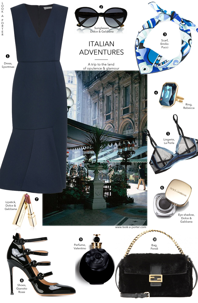 Classic meets modern in a simple feminine look styled with MaxMara, Valentino, Gianvito Rossi, Fendi & Dolce&Gabbana via www.look-a-porter.com, fashion blog with daily style inspiration and outfits