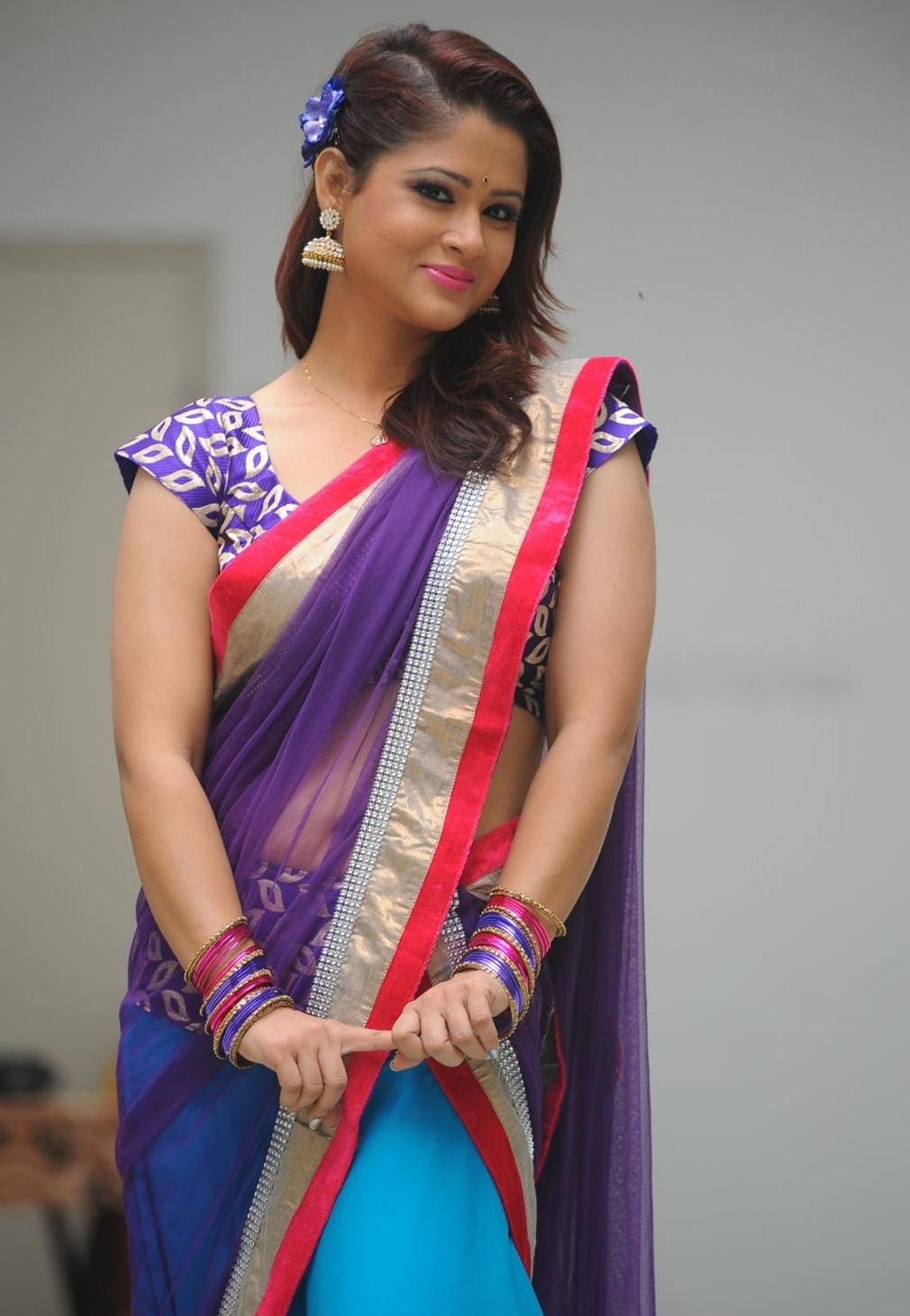 Anchor Shilpa chakravarthy in Half Saree Photos