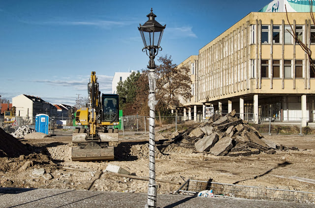 Baustelle Potsdam, Friedrich-Ebert-Straße, 14467 Potsdam, 11.01.2014
