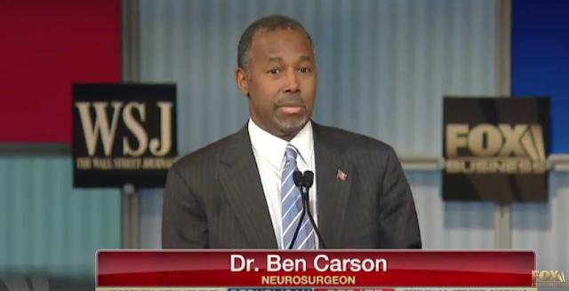 Fox Business Republican Debate Ben Carson rant ramble clueless