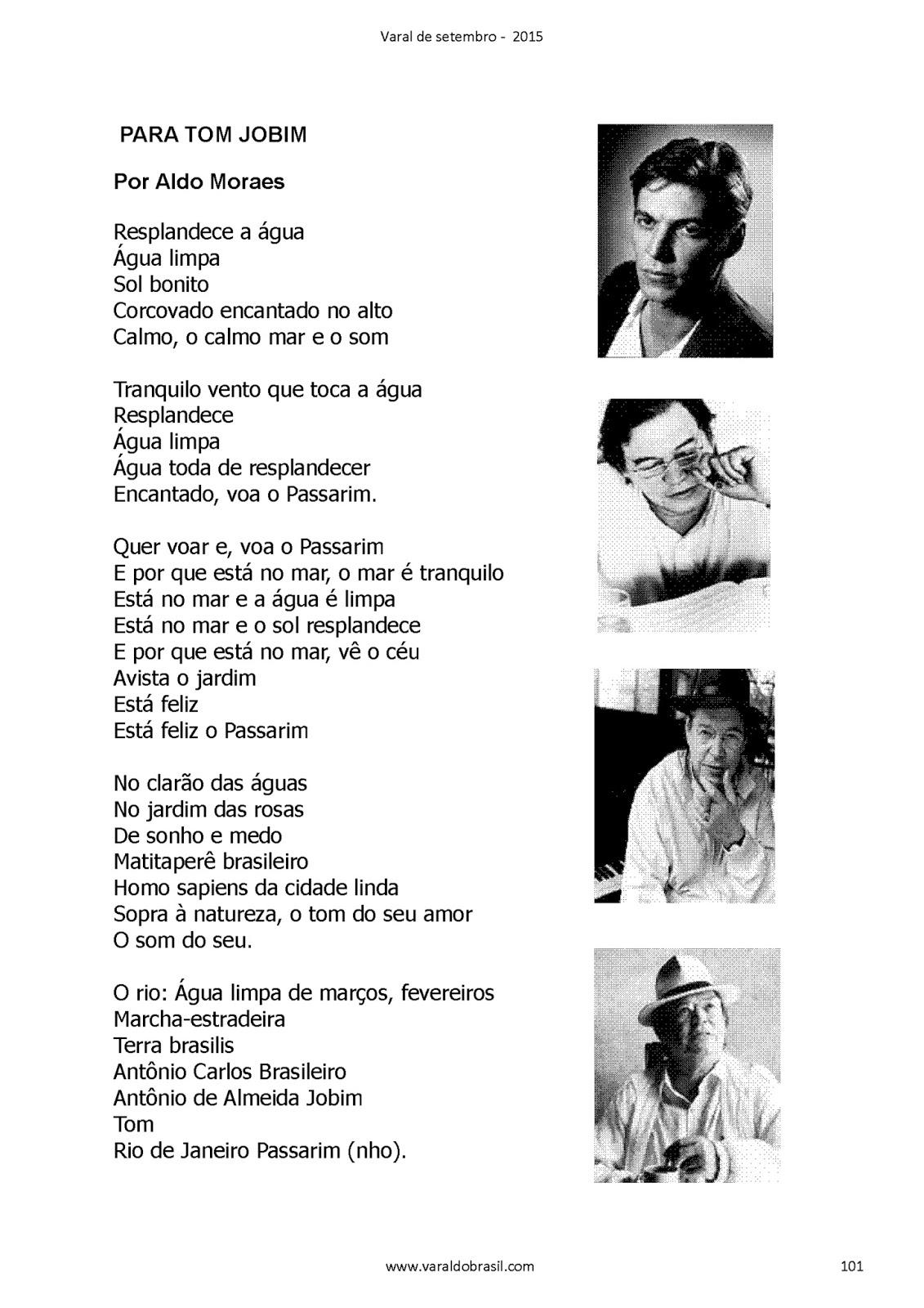 Suficiente Instituto Cultural Arte Brasil: PARA TOM JOBIM: POEMA DE ALDO  VY91