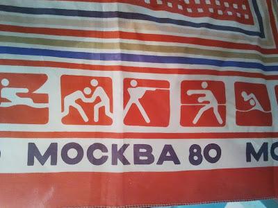 Платок с символикой Олимпиады-80