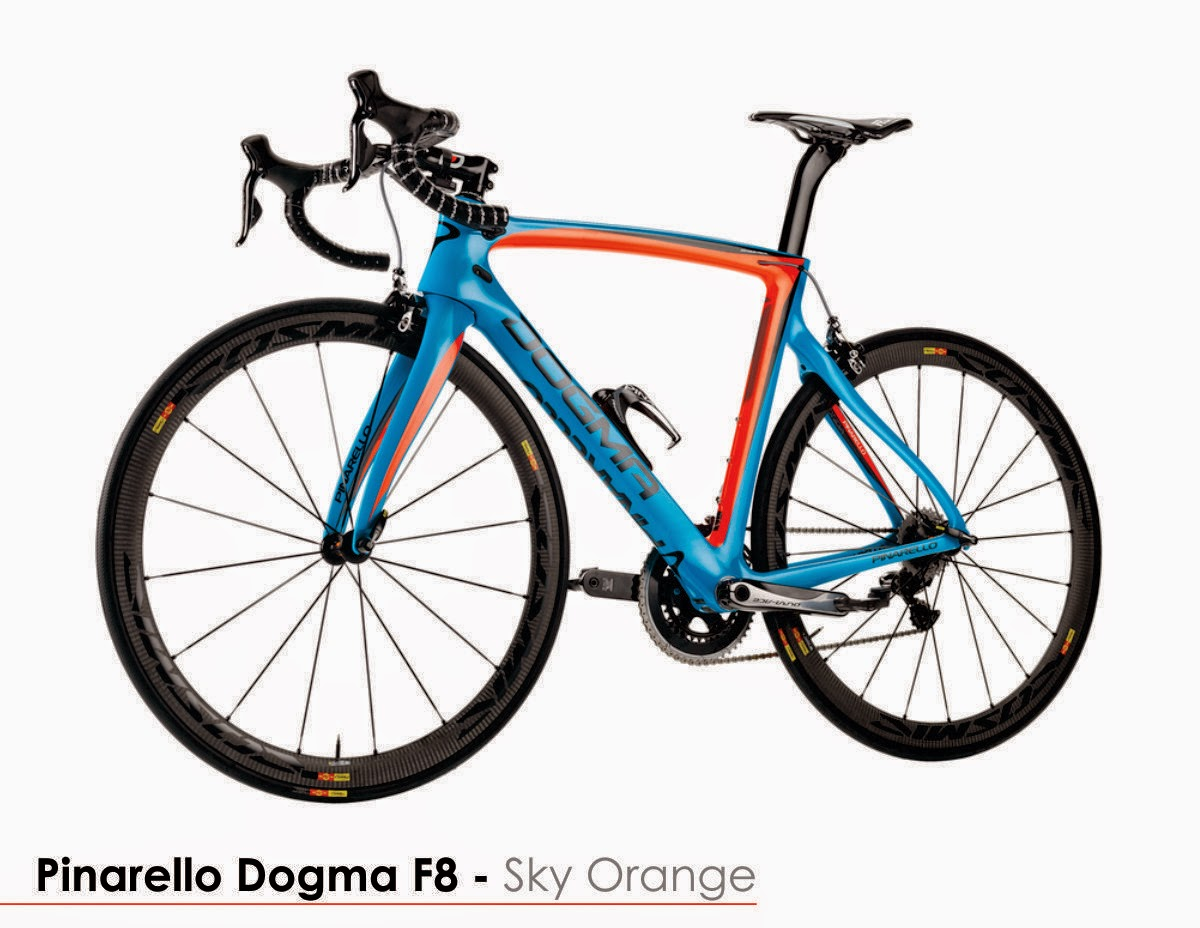 Pinarello F8 Sky Orange