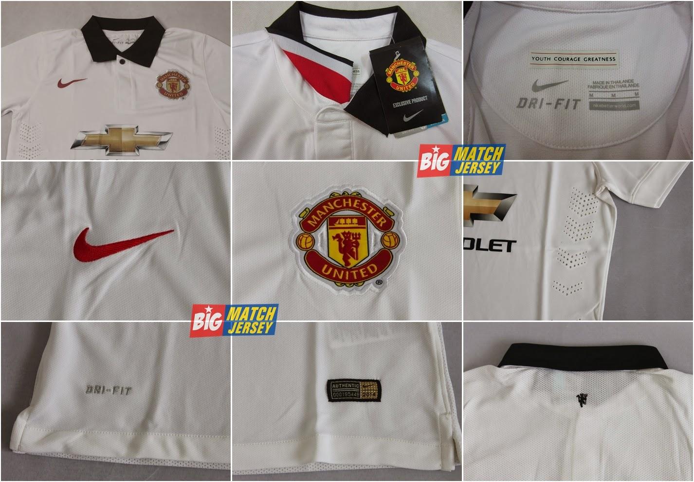 New Manchester United Away Strip 1415- Nike White Man Utd 2014-15 Alternate Kit