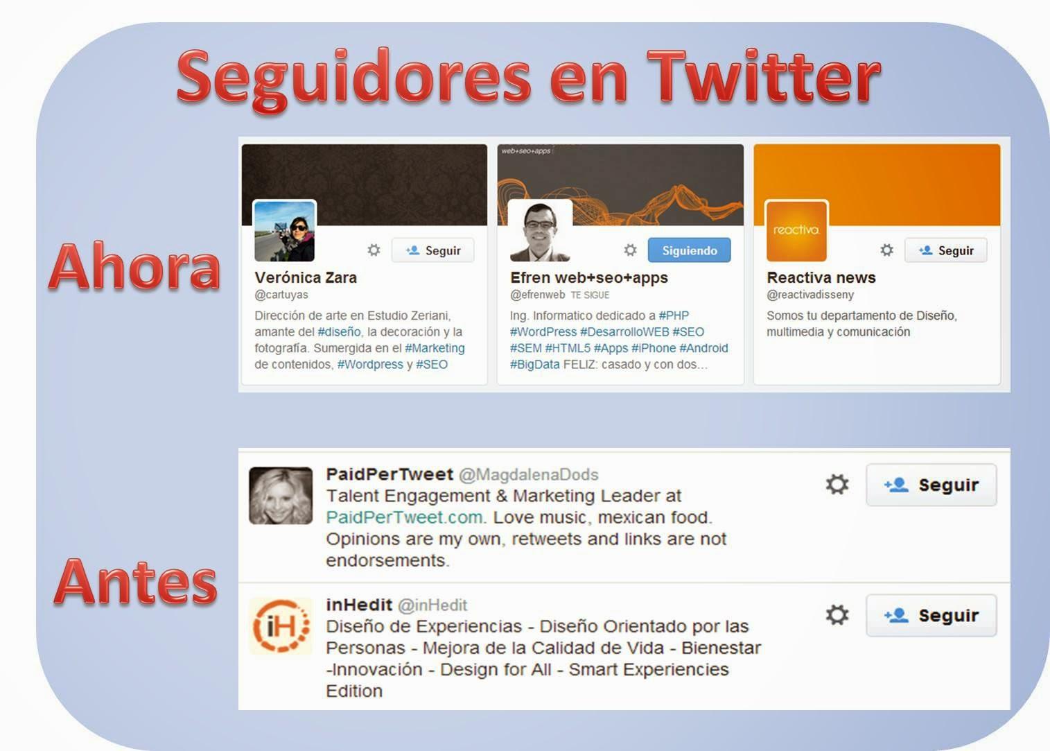 Twitter: El antes y el despues