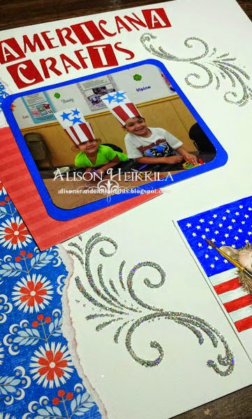 americana crafts with dw and stampendous On americana crafts to make
