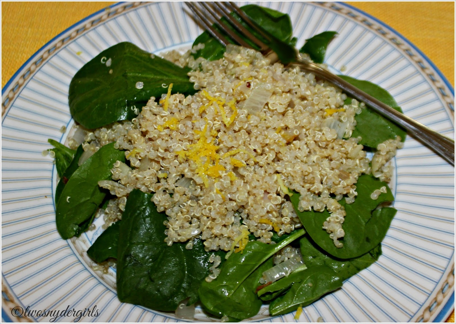Grandparents & Grandchildren: Spinach and Quinoa Salad