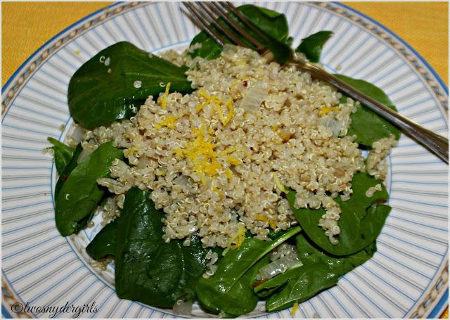 Grandparents & Grandchildren: Spinach and Quinoa Salad