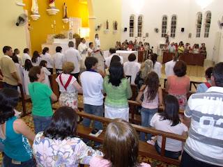 Imagens da Santa Missa solene de Cristo Rei